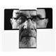 Four black and white Polaroid prints