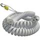 15ft, Hospital Grade Cordset, Spring cable,15A 125V to 15/20