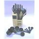 23pcs Bakelite Handle Knife and Kitchen Tools Set Plus Woode