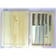 Knife Set 5PC Bakelite Handle Plus Pine Wood Knife Drawer
