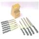 Knives Set 11 pcs POM Handle With Titanium Plated Plus Woode