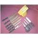 Knife Set 10pcs POM Handle Plus Rubber Wooden Block