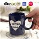 Ceramic Embossed Coffee Mugs