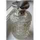 Antique Silver and Cut Glass Scent Bottle