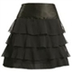 Mini Satin Skirt With Pleated Detailed, Close Hem.
