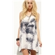 Digital print silk woven dress