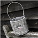 wicker candel holder