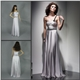 One Shoulder Silver Prom Dress
