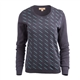 Perla Long Sleeve Diagonal Deco Crew Neck Sweater