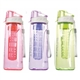 Plastic Fruit Infuser Water Bottle With Straw Lid