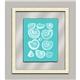 Aqua Shells in Glass I
