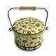 Round Sewing Basket, Made of Fabric, Hardboard