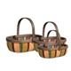 S/3 Wood Slat Baskets