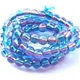 Blue/Pink Glass Bead - 6mm