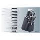 14pcs Forged Handle Knife Set Plus Wooden Block