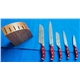 5pcs Forged Handle Knife Set Plus Bamboo Block