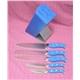 5pcs Forged Handle Knife Set Plus Rubber Wooden Block