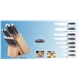 12pcs Forged Handle Knife Set Plus Rubber Wooden Block