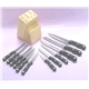 12Pcs Bakelite Handle Knife Set Plus Hardwood Block