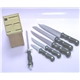 6Pcs Bakelite Handle Knife Set Plus Hardwood Block
