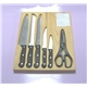 6PCS Bakelite Handle Knife Set in Wooden Box