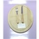 2PCS Wooden Handle Knife Set Plus Wooden Cutting Board
