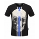 Philipp Plein Black Blue Men T Shirt
