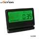 Rectangle green back light weather station table clock