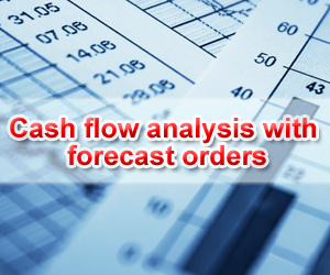 Cash flow analysis with forecast orders